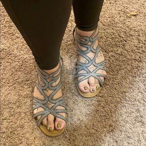 Torrid strappy sparkly sandals 11wide